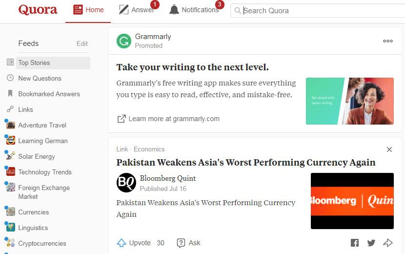 Quora сайт вопросов и ответов